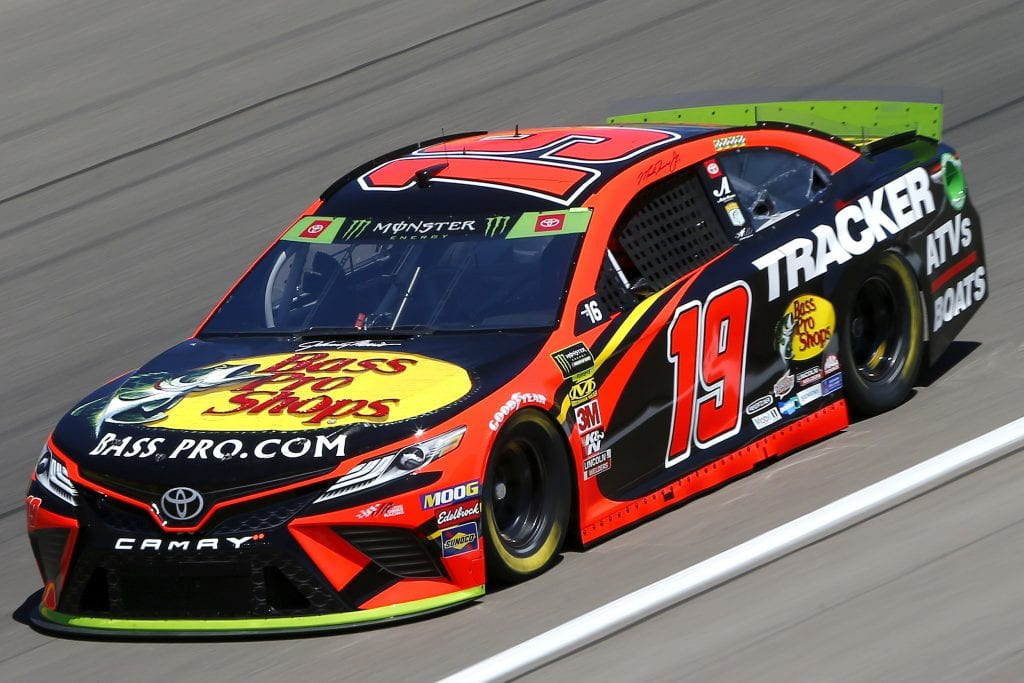 LAS VEGAS, NEVADA - SEPTEMBER 13: Martin Truex Jr., driver of the #19 Bass Pro Shops Toyota, drives during practice for the Monster Energy NASCAR Cup Series South Point 400 at Las Vegas Motor Speedway on September 13, 2019 in Las Vegas, Nevada. (Photo by Jonathan Ferrey/Getty Images) | Getty Images