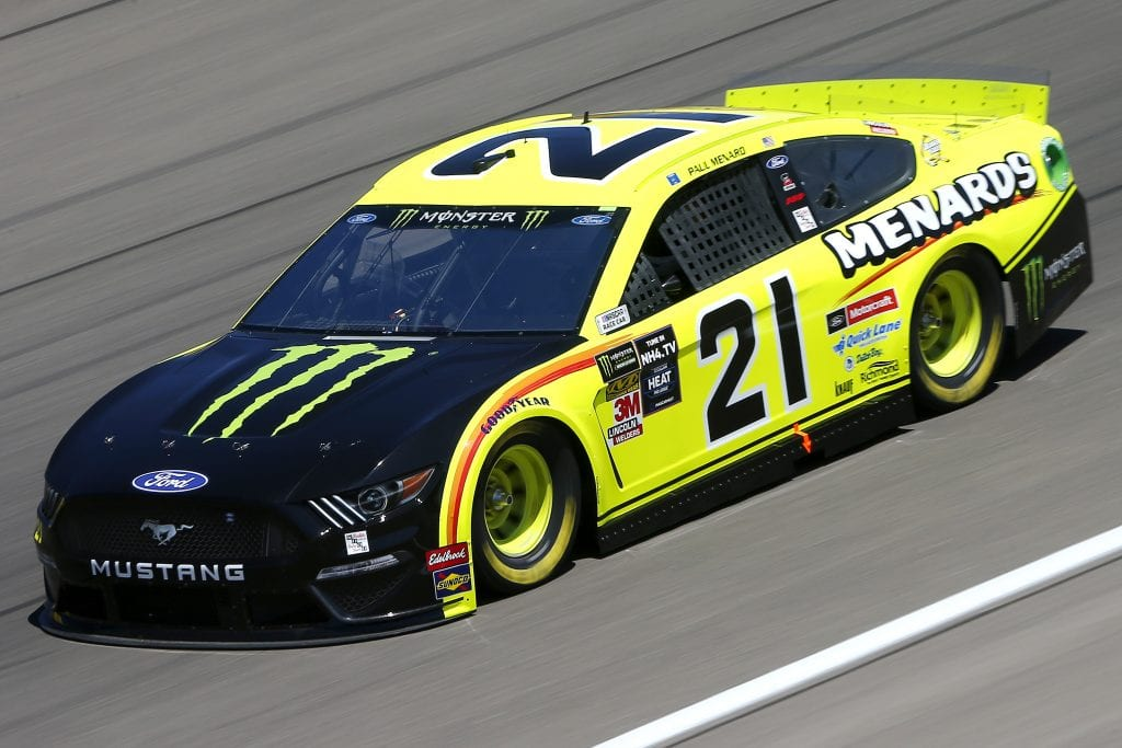 LAS VEGAS, NEVADA - SEPTEMBER 13: Paul Menard, driver of the #21 Menards/Monster Ford, drives during practice for the Monster Energy NASCAR Cup Series South Point 400 at Las Vegas Motor Speedway on September 13, 2019 in Las Vegas, Nevada. (Photo by Jonathan Ferrey/Getty Images) | Getty Images