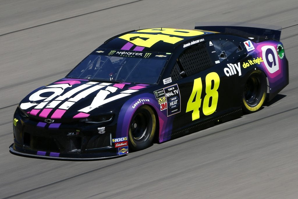 LAS VEGAS, NEVADA - SEPTEMBER 13: Jimmie Johnson, driver of the #48 Ally Chevrolet, drives during practice for the Monster Energy NASCAR Cup Series South Point 400 at Las Vegas Motor Speedway on September 13, 2019 in Las Vegas, Nevada. (Photo by Jonathan Ferrey/Getty Images) | Getty Images