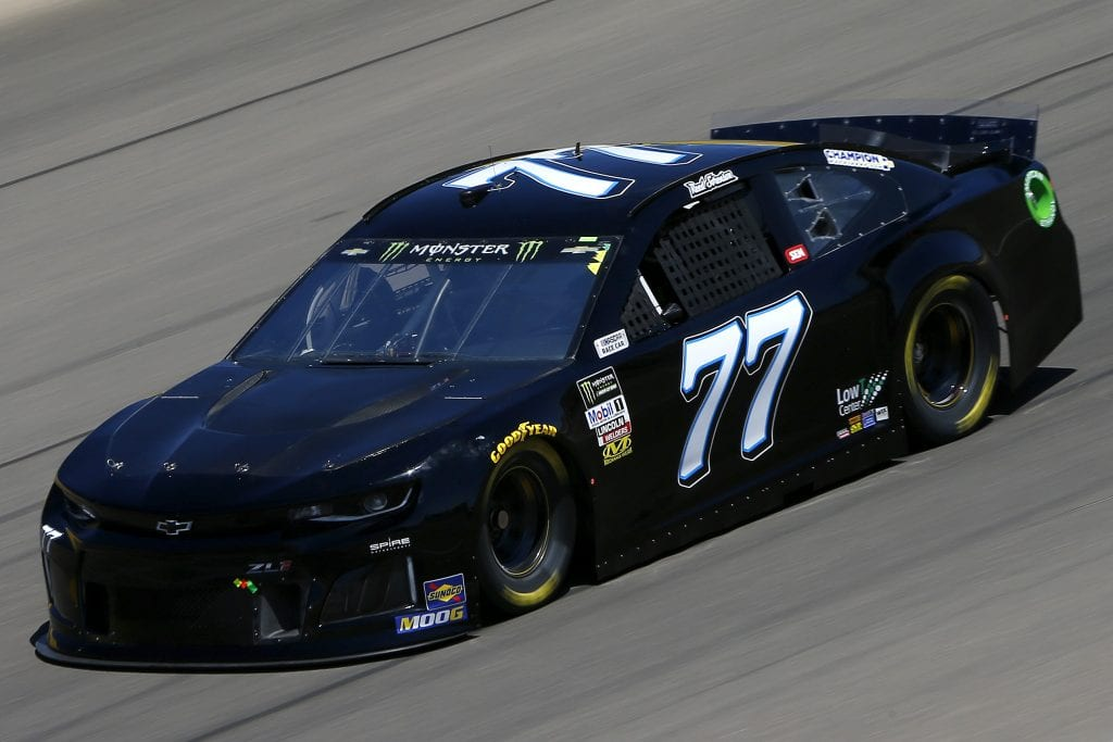 LAS VEGAS, NEVADA - SEPTEMBER 13: Reed Sorenson, driver of the #77 Chevrolet, drives during practice for the Monster Energy NASCAR Cup Series South Point 400 at Las Vegas Motor Speedway on September 13, 2019 in Las Vegas, Nevada. (Photo by Jonathan Ferrey/Getty Images) | Getty Images