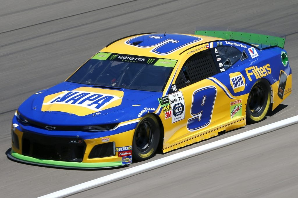 LAS VEGAS, NEVADA - SEPTEMBER 13: Chase Elliott, driver of the #9 NAPA Filters Chevrolet, drives during practice for the Monster Energy NASCAR Cup Series South Point 400 at Las Vegas Motor Speedway on September 13, 2019 in Las Vegas, Nevada. (Photo by Jonathan Ferrey/Getty Images) | Getty Images