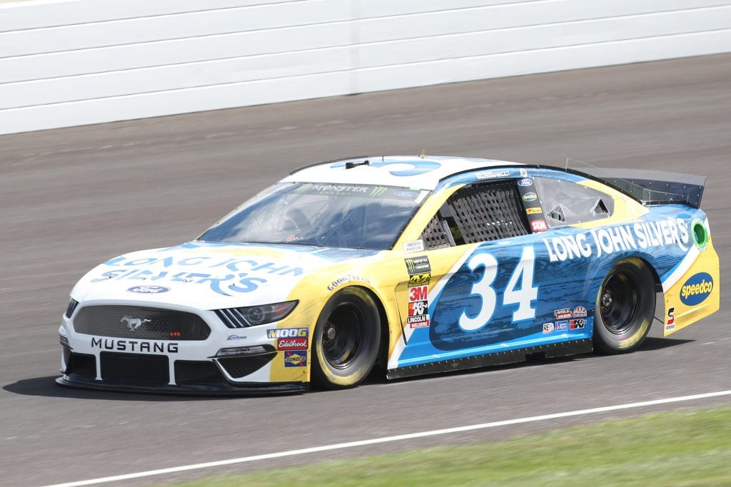 INDIANAPOLIS, INDIANA - SEPTEMBER 07: Michael McDowell, driver of the #34 Long John Silver's Ford, drives during practice for the Monster Energy NASCAR Cup Series Big Machine Vodka 400 at Indianapolis Motor Speedway on September 07, 2019 in Indianapolis, Indiana. (Photo by Matt Sullivan/Getty Images) | Getty Images
