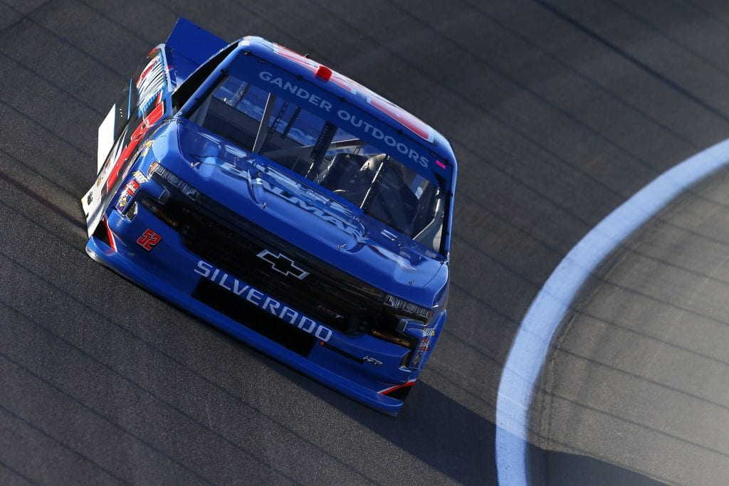 LAS VEGAS, NEVADA - SEPTEMBER 13: Stewart Friesen, driver of the #52 Halmar International Chevrolet, drives during practice for the NASCAR Gander Outdoor Truck Series World of Westgate Las Vegas 200 at Las Vegas Motor Speedway on September 13, 2019 in Las Vegas, Nevada. (Photo by Jonathan Ferrey/Getty Images) | Getty Images