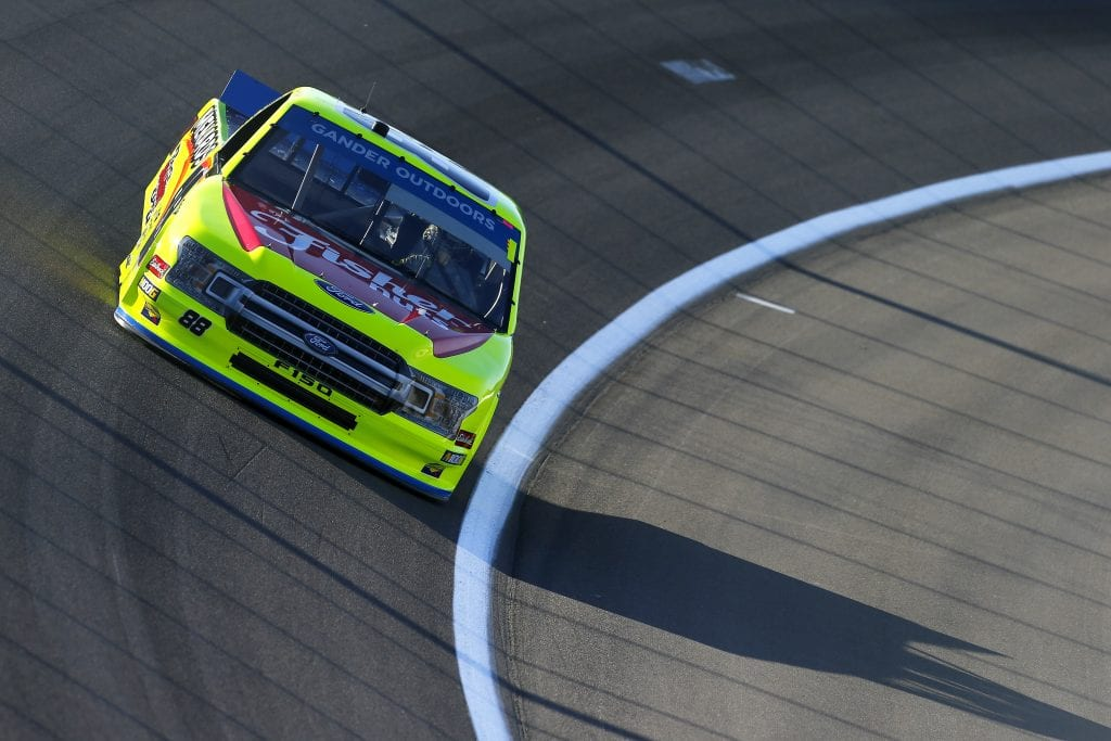 LAS VEGAS, NEVADA - SEPTEMBER 13: Matt Crafton, driver of the #88 Fisher Nuts/Menards Ford, drives during practice for the NASCAR Gander Outdoor Truck Series World of Westgate Las Vegas 200 at Las Vegas Motor Speedway on September 13, 2019 in Las Vegas, Nevada. (Photo by Jonathan Ferrey/Getty Images) | Getty Images