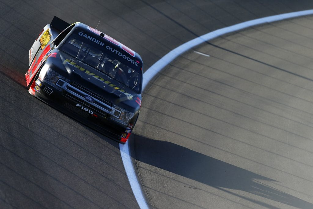 LAS VEGAS, NEVADA - SEPTEMBER 13: Ben Rhodes, driver of the #99 Havoline Ford, drives during practice for the NASCAR Gander Outdoor Truck Series World of Westgate Las Vegas 200 at Las Vegas Motor Speedway on September 13, 2019 in Las Vegas, Nevada. (Photo by Jonathan Ferrey/Getty Images) | Getty Images