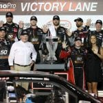 LAS VEGAS, NEVADA - SEPTEMBER 14: Tyler Reddick, driver of the #2 TAME the BEAST Chevrolet, celebrates in victory lane after winning the regular season championship during the NASCAR Xfinity Series Rhino Pro Trucks Outfitters 300 at Las Vegas Motor Speedway on September 14, 2019 in Las Vegas, Nevada. (Photo by Chris Graythen/Getty Images) | Getty Images