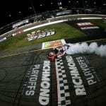 RICHMOND, VIRGINIA - SEPTEMBER 20: Christopher Bell, driver of the #20 Rheem Toyota, celebrates after winning the NASCAR Xfinity Series GoBowling 250 at Richmond Raceway on September 20, 2019 in Richmond, Virginia. (Photo by Sean Gardner/Getty Images) | Getty Images