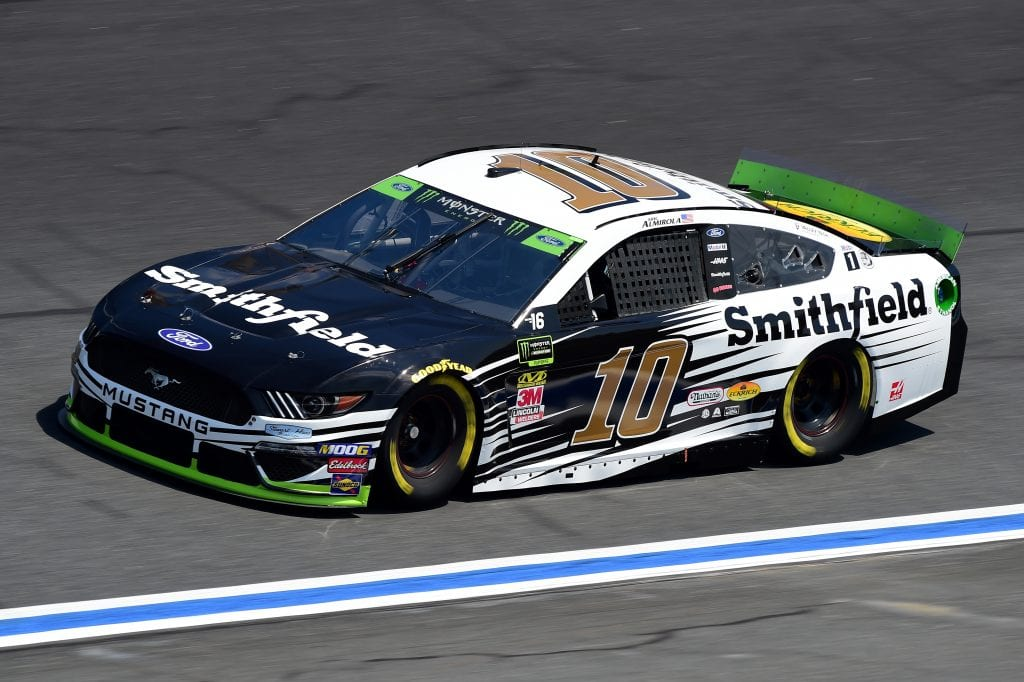 CHARLOTTE, NORTH CAROLINA - SEPTEMBER 27: Aric Almirola, driver of the #10 Smithfield Ford, practices for the Monster Energy NASCAR Cup Series Bank of America ROVAL 400 at Charlotte Motor Speedway on September 27, 2019 in Charlotte, North Carolina. (Photo by Jared C. Tilton/Getty Images) | Getty Images