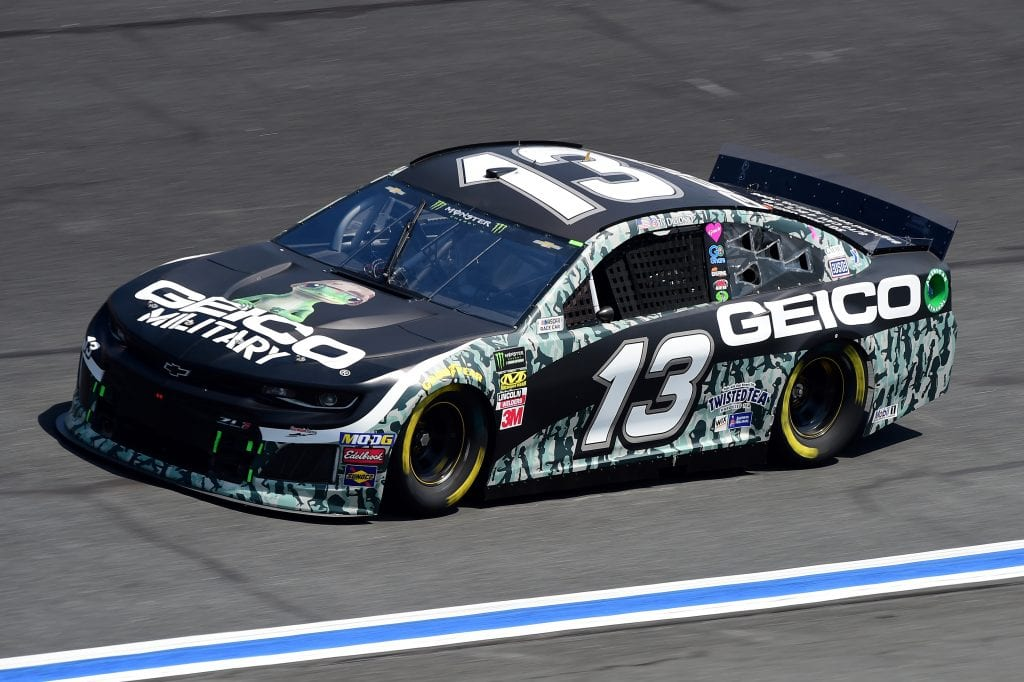 CHARLOTTE, NORTH CAROLINA - SEPTEMBER 27: Ty Dillon, driver of the #13 GEICO Military Chevrolet, practices for the Monster Energy NASCAR Cup Series Bank of America ROVAL 400 at Charlotte Motor Speedway on September 27, 2019 in Charlotte, North Carolina. (Photo by Jared C. Tilton/Getty Images) | Getty Images