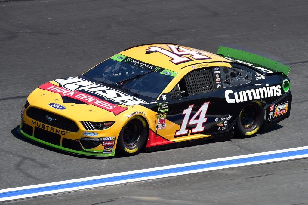 CHARLOTTE, NORTH CAROLINA - SEPTEMBER 27: Clint Bowyer, driver of the #14 Rush/Cummins Ford, practices for the Monster Energy NASCAR Cup Series Bank of America ROVAL 400 at Charlotte Motor Speedway on September 27, 2019 in Charlotte, North Carolina. (Photo by Jared C. Tilton/Getty Images) | Getty Images