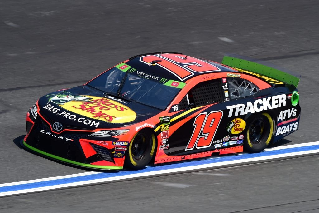 CHARLOTTE, NORTH CAROLINA - SEPTEMBER 27: Martin Truex Jr., driver of the #19 Bass Pro Shops Toyota, practices for the Monster Energy NASCAR Cup Series Bank of America ROVAL 400 at Charlotte Motor Speedway on September 27, 2019 in Charlotte, North Carolina. (Photo by Jared C. Tilton/Getty Images) | Getty Images