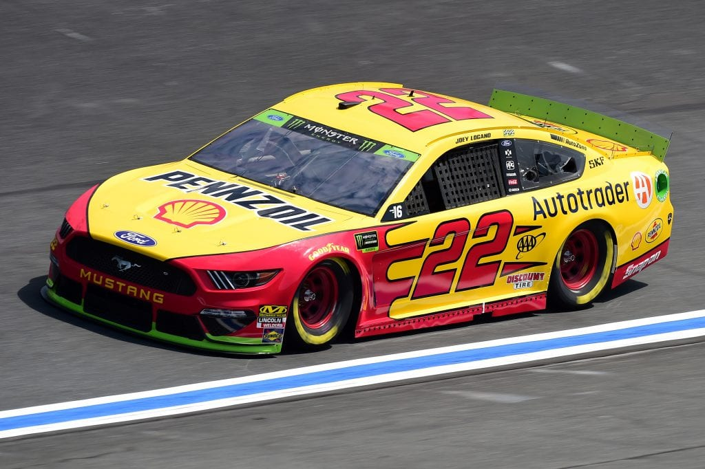 CHARLOTTE, NORTH CAROLINA - SEPTEMBER 27: Joey Logano, driver of the #22 Shell Pennzoil/Autotrader Ford, practices for the Monster Energy NASCAR Cup Series Bank of America ROVAL 400 at Charlotte Motor Speedway on September 27, 2019 in Charlotte, North Carolina. (Photo by Jared C. Tilton/Getty Images) | Getty Images