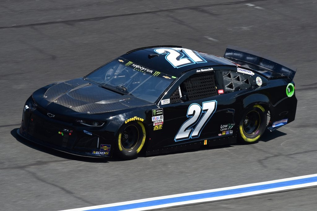 CHARLOTTE, NORTH CAROLINA - SEPTEMBER 27: Joe Nemechek, driver of the #27 Chevrolet, practices for the Monster Energy NASCAR Cup Series Bank of America ROVAL 400 at Charlotte Motor Speedway on September 27, 2019 in Charlotte, North Carolina. (Photo by Jared C. Tilton/Getty Images) | Getty Images