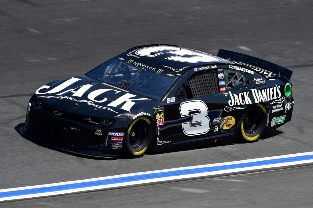 CHARLOTTE, NORTH CAROLINA - SEPTEMBER 27: Austin Dillon, driver of the #3 Jack Daniel's Chevrolet, practices for the Monster Energy NASCAR Cup Series Bank of America ROVAL 400 at Charlotte Motor Speedway on September 27, 2019 in Charlotte, North Carolina. (Photo by Jared C. Tilton/Getty Images) | Getty Images
