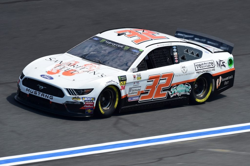 CHARLOTTE, NORTH CAROLINA - SEPTEMBER 27: Corey LaJoie, driver of the #32 Samaritan's Feet Ford, practices for the Monster Energy NASCAR Cup Series Bank of America ROVAL 400 at Charlotte Motor Speedway on September 27, 2019 in Charlotte, North Carolina. (Photo by Jared C. Tilton/Getty Images) | Getty Images