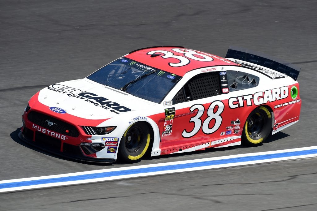 CHARLOTTE, NORTH CAROLINA - SEPTEMBER 27: David Ragan, driver of the #38 Citgard Heavy Duty Engine Oil Ford, practices for the Monster Energy NASCAR Cup Series Bank of America ROVAL 400 at Charlotte Motor Speedway on September 27, 2019 in Charlotte, North Carolina. (Photo by Jared C. Tilton/Getty Images) | Getty Images