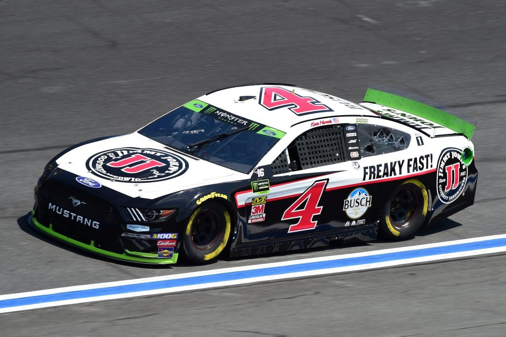 CHARLOTTE, NORTH CAROLINA - SEPTEMBER 27: Kevin Harvick, driver of the #4 Jimmy John's Ford, practices for the Monster Energy NASCAR Cup Series Bank of America ROVAL 400 at Charlotte Motor Speedway on September 27, 2019 in Charlotte, North Carolina. (Photo by Jared C. Tilton/Getty Images) | Getty Images