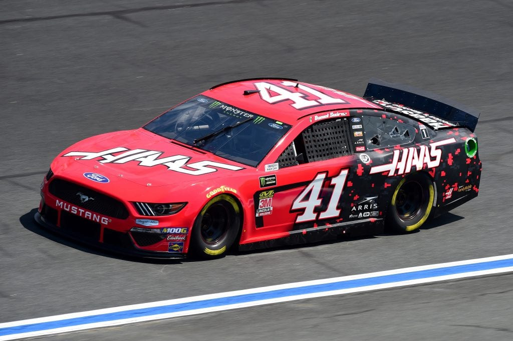 CHARLOTTE, NORTH CAROLINA - SEPTEMBER 27: Daniel Suarez, driver of the #41 Haas Automation Ford, practices for the Monster Energy NASCAR Cup Series Bank of America ROVAL 400 at Charlotte Motor Speedway on September 27, 2019 in Charlotte, North Carolina. (Photo by Jared C. Tilton/Getty Images) | Getty Images