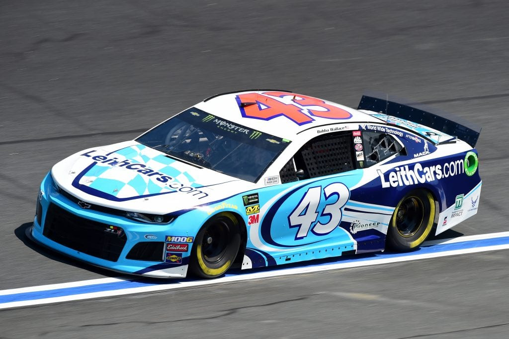 CHARLOTTE, NORTH CAROLINA - SEPTEMBER 27: Bubba Wallace, driver of the #43 LeithCars.com Chevrolet, practices for the Monster Energy NASCAR Cup Series Bank of America ROVAL 400 at Charlotte Motor Speedway on September 27, 2019 in Charlotte, North Carolina. (Photo by Jared C. Tilton/Getty Images) | Getty Images