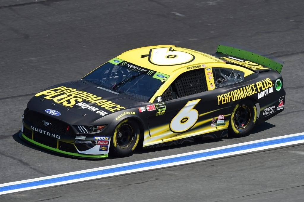 CHARLOTTE, NORTH CAROLINA - SEPTEMBER 27: Ryan Newman, driver of the #6 Performance Plus Ford, practices for the Monster Energy NASCAR Cup Series Bank of America ROVAL 400 at Charlotte Motor Speedway on September 27, 2019 in Charlotte, North Carolina. (Photo by Jared C. Tilton/Getty Images) | Getty Images