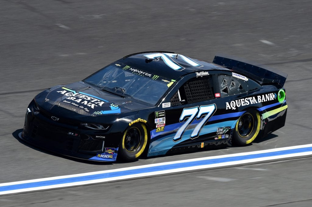 CHARLOTTE, NORTH CAROLINA - SEPTEMBER 27: Reed Sorenson, driver of the #77 Aquesta Bank Chevrolet, practices for the Monster Energy NASCAR Cup Series Bank of America ROVAL 400 at Charlotte Motor Speedway on September 27, 2019 in Charlotte, North Carolina. (Photo by Jared C. Tilton/Getty Images) | Getty Images