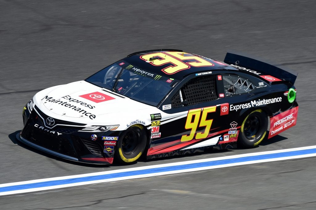 CHARLOTTE, NORTH CAROLINA - SEPTEMBER 27: Matt DiBenedetto, driver of the #95 Toyota Express Maintenance Toyota, practices for the Monster Energy NASCAR Cup Series Bank of America ROVAL 400 at Charlotte Motor Speedway on September 27, 2019 in Charlotte, North Carolina. (Photo by Jared C. Tilton/Getty Images) | Getty Images