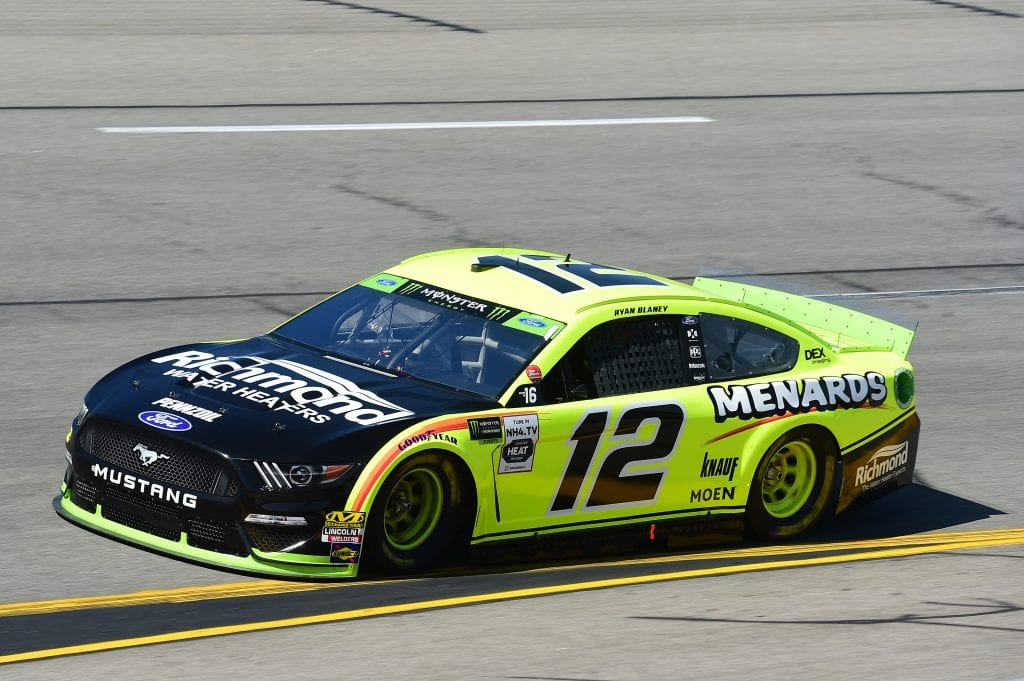 RICHMOND, VIRGINIA - SEPTEMBER 20: Ryan Blaney, driver of the #12 Menards/Richmond Ford, practices for the Monster Energy NASCAR Cup Series Federated Auto Parts 400 at Richmond Raceway on September 20, 2019 in Richmond, Virginia. (Photo by Jared C. Tilton/Getty Images) | Getty Images