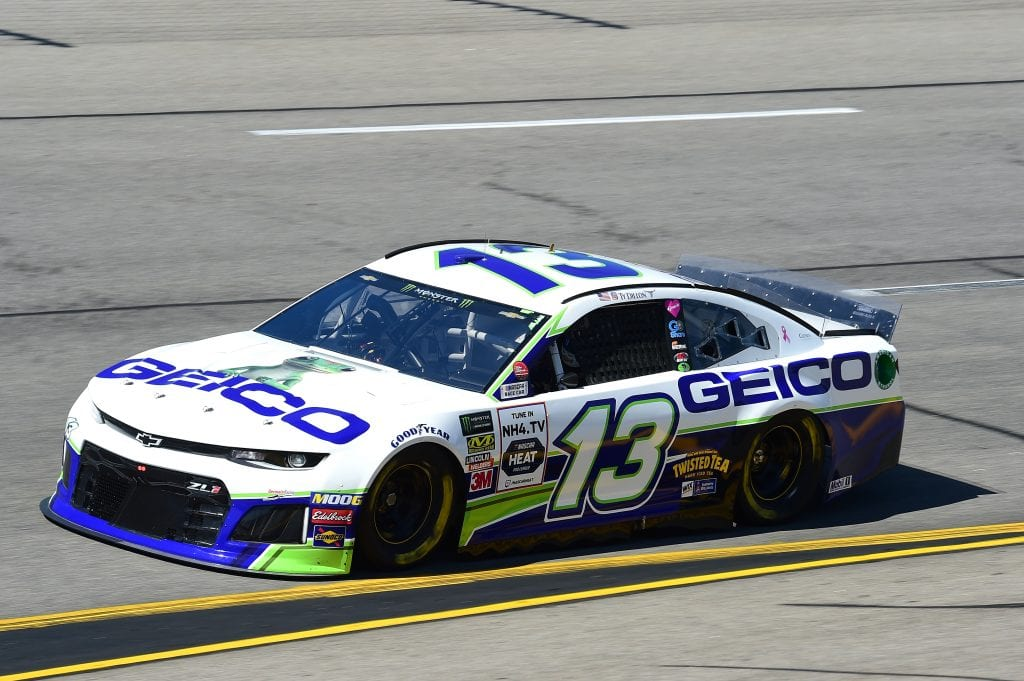 RICHMOND, VIRGINIA - SEPTEMBER 20: Ty Dillon, driver of the #13 GEICO Chevrolet, practices for the Monster Energy NASCAR Cup Series Federated Auto Parts 400 at Richmond Raceway on September 20, 2019 in Richmond, Virginia. (Photo by Jared C. Tilton/Getty Images) | Getty Images