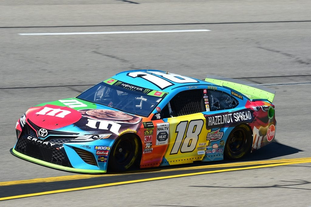 RICHMOND, VIRGINIA - SEPTEMBER 20: Kyle Busch, driver of the #18 M&M's Hazelnut Toyota, practices for the Monster Energy NASCAR Cup Series Federated Auto Parts 400 at Richmond Raceway on September 20, 2019 in Richmond, Virginia. (Photo by Jared C. Tilton/Getty Images) | Getty Images