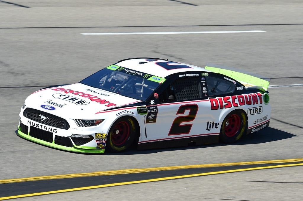 RICHMOND, VIRGINIA - SEPTEMBER 20: Brad Keselowski, driver of the #2 Discount Tire Ford, practices for the Monster Energy NASCAR Cup Series Federated Auto Parts 400 at Richmond Raceway on September 20, 2019 in Richmond, Virginia. (Photo by Jared C. Tilton/Getty Images) | Getty Images