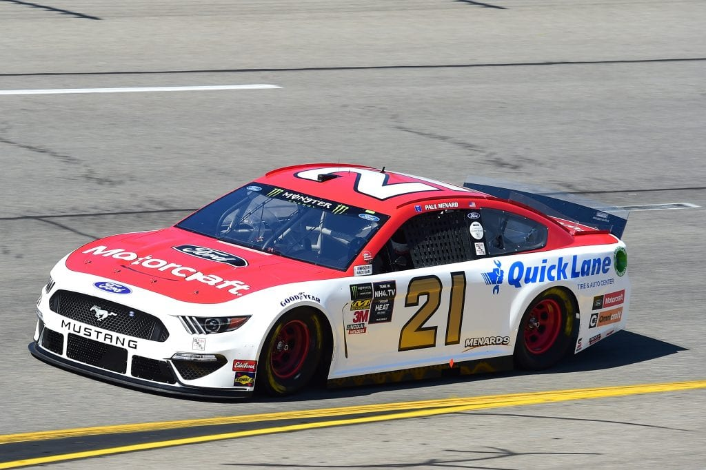 RICHMOND, VIRGINIA - SEPTEMBER 20: Paul Menard, driver of the #21 Motorcraft/Quick Lane Tire & Auto Center Ford, practices for the Monster Energy NASCAR Cup Series Federated Auto Parts 400 at Richmond Raceway on September 20, 2019 in Richmond, Virginia. (Photo by Jared C. Tilton/Getty Images) | Getty Images