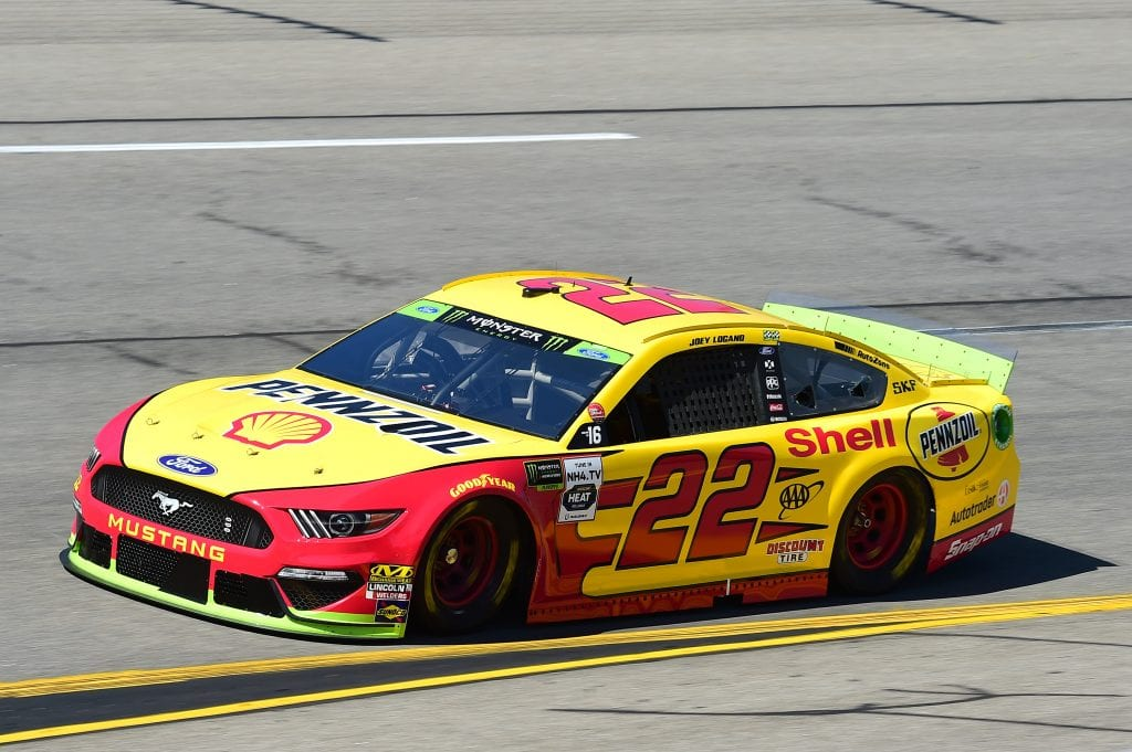 RICHMOND, VIRGINIA - SEPTEMBER 20: Joey Logano, driver of the #22 Shell Pennzoil Ford, practices for the Monster Energy NASCAR Cup Series Federated Auto Parts 400 at Richmond Raceway on September 20, 2019 in Richmond, Virginia. (Photo by Jared C. Tilton/Getty Images) | Getty Images