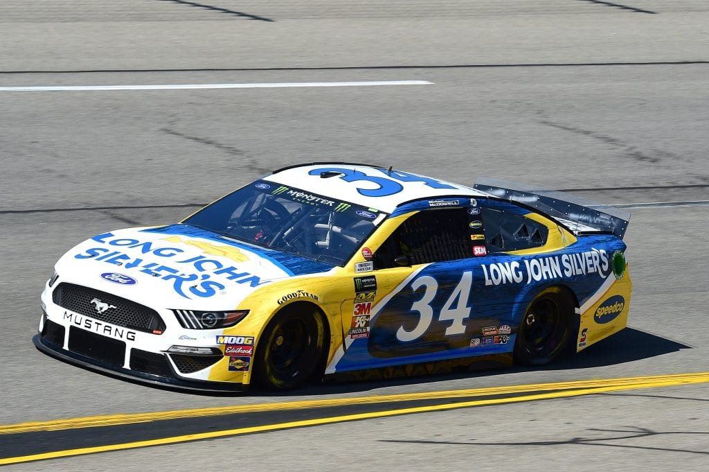 RICHMOND, VIRGINIA - SEPTEMBER 20: Michael McDowell, driver of the #34 Long John Silver's Ford, practices for the Monster Energy NASCAR Cup Series Federated Auto Parts 400 at Richmond Raceway on September 20, 2019 in Richmond, Virginia. (Photo by Jared C. Tilton/Getty Images) | Getty Images