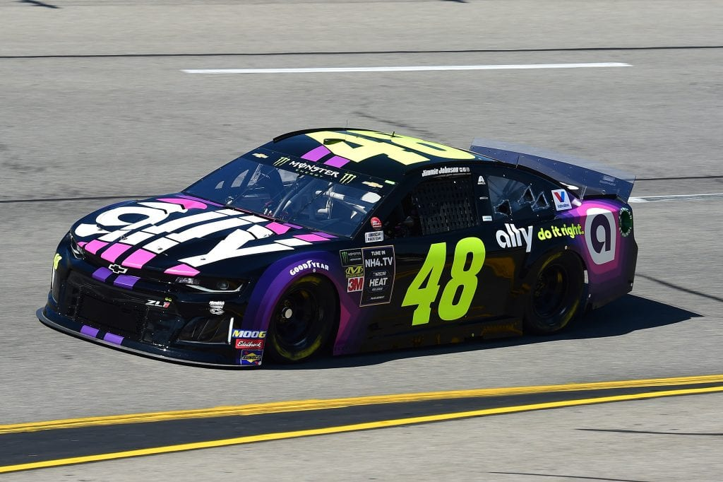RICHMOND, VIRGINIA - SEPTEMBER 20: Jimmie Johnson, driver of the #48 Ally Chevrolet, practices for the Monster Energy NASCAR Cup Series Federated Auto Parts 400 at Richmond Raceway on September 20, 2019 in Richmond, Virginia. (Photo by Jared C. Tilton/Getty Images) | Getty Images