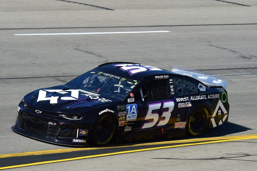 RICHMOND, VIRGINIA - SEPTEMBER 20: Spencer Boyd, driver of the #53 AQRE.app Chevrolet, practices for the Monster Energy NASCAR Cup Series Federated Auto Parts 400 at Richmond Raceway on September 20, 2019 in Richmond, Virginia. (Photo by Jared C. Tilton/Getty Images)   Getty Images