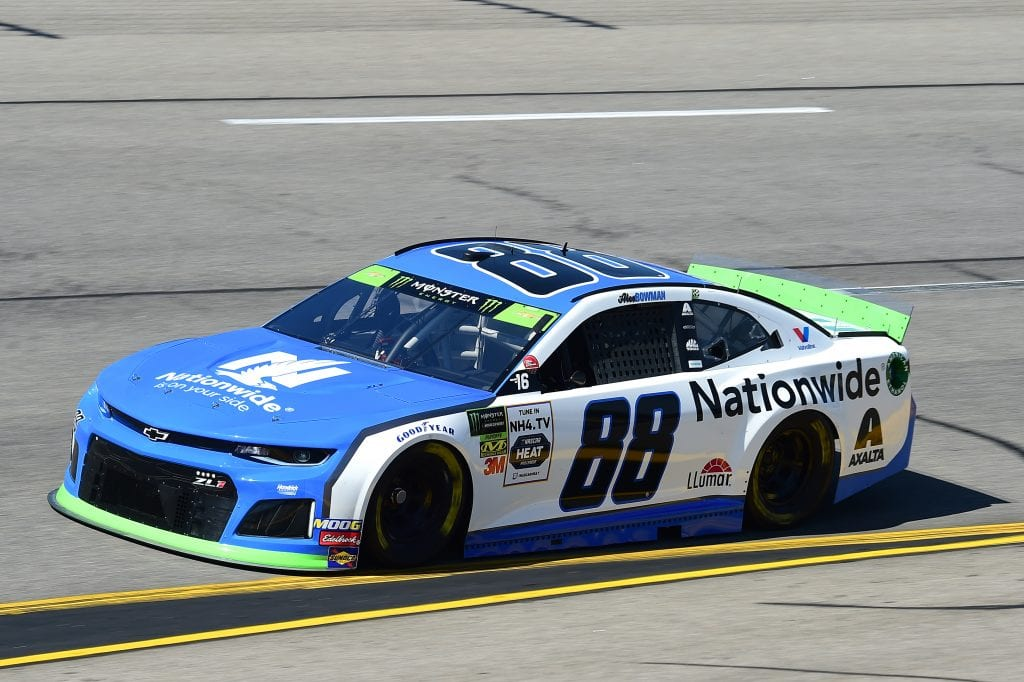 RICHMOND, VIRGINIA - SEPTEMBER 20: Alex Bowman, driver of the #88 Nationwide Chevrolet, practices for the Monster Energy NASCAR Cup Series Federated Auto Parts 400 at Richmond Raceway on September 20, 2019 in Richmond, Virginia. (Photo by Jared C. Tilton/Getty Images) | Getty Images