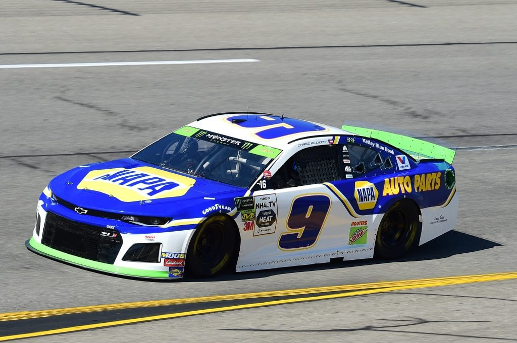 RICHMOND, VIRGINIA - SEPTEMBER 20: Chase Elliott, driver of the #9 NAPA Chevrolet, practices for the Monster Energy NASCAR Cup Series Federated Auto Parts 400 at Richmond Raceway on September 20, 2019 in Richmond, Virginia. (Photo by Jared C. Tilton/Getty Images) | Getty Images
