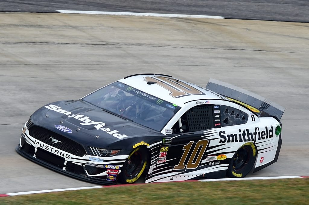MARTINSVILLE, VIRGINIA - OCTOBER 26: Aric Almirola, driver of the #10 Smithfield Ford, practices for the Monster Energy NASCAR Cup Series First Data 500 at Martinsville Speedway on October 26, 2019 in Martinsville, Virginia. (Photo by Jared C. Tilton/Getty Images) | Getty Images