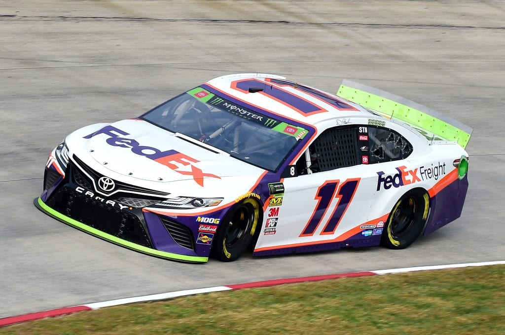 MARTINSVILLE, VIRGINIA - OCTOBER 26: Denny Hamlin, driver of the #11 FedEx Freight Toyota, practices for the Monster Energy NASCAR Cup Series First Data 500 at Martinsville Speedway on October 26, 2019 in Martinsville, Virginia. (Photo by Jared C. Tilton/Getty Images) | Getty Images