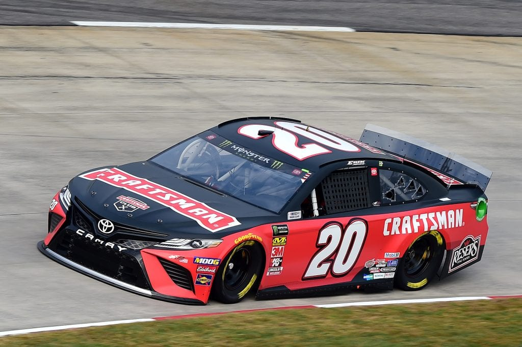 MARTINSVILLE, VIRGINIA - OCTOBER 26: Erik Jones, driver of the #20 Craftsman Toyota, practices for the Monster Energy NASCAR Cup Series First Data 500 at Martinsville Speedway on October 26, 2019 in Martinsville, Virginia. (Photo by Jared C. Tilton/Getty Images) | Getty Images