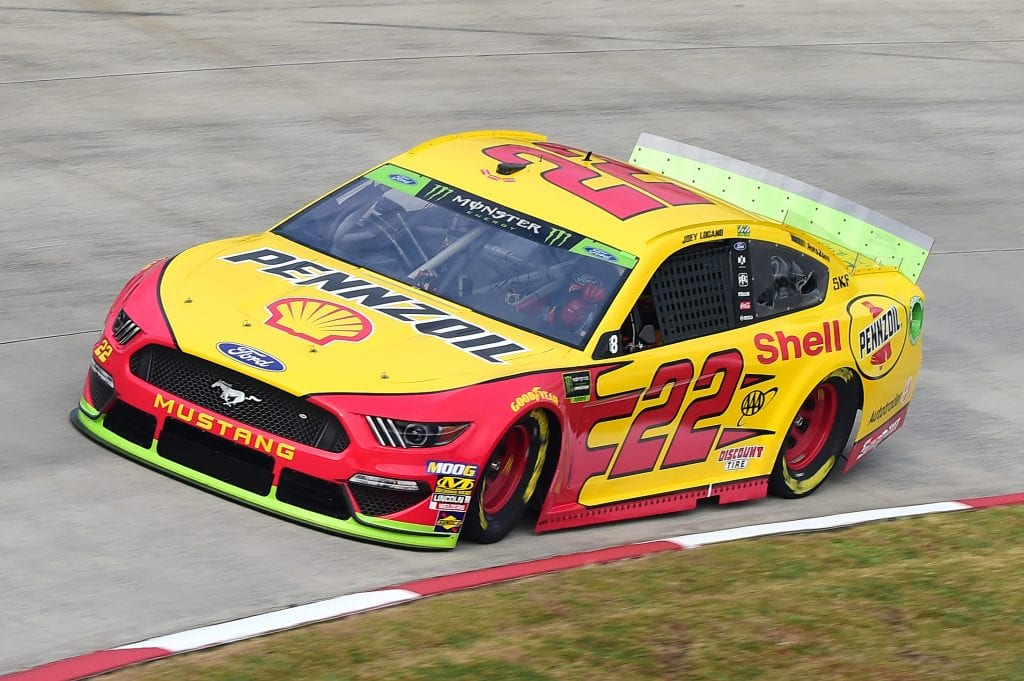 MARTINSVILLE, VIRGINIA - OCTOBER 26: Joey Logano, driver of the #22 Shell Pennzoil Ford, practices for the Monster Energy NASCAR Cup Series First Data 500 at Martinsville Speedway on October 26, 2019 in Martinsville, Virginia. (Photo by Jared C. Tilton/Getty Images) | Getty Images