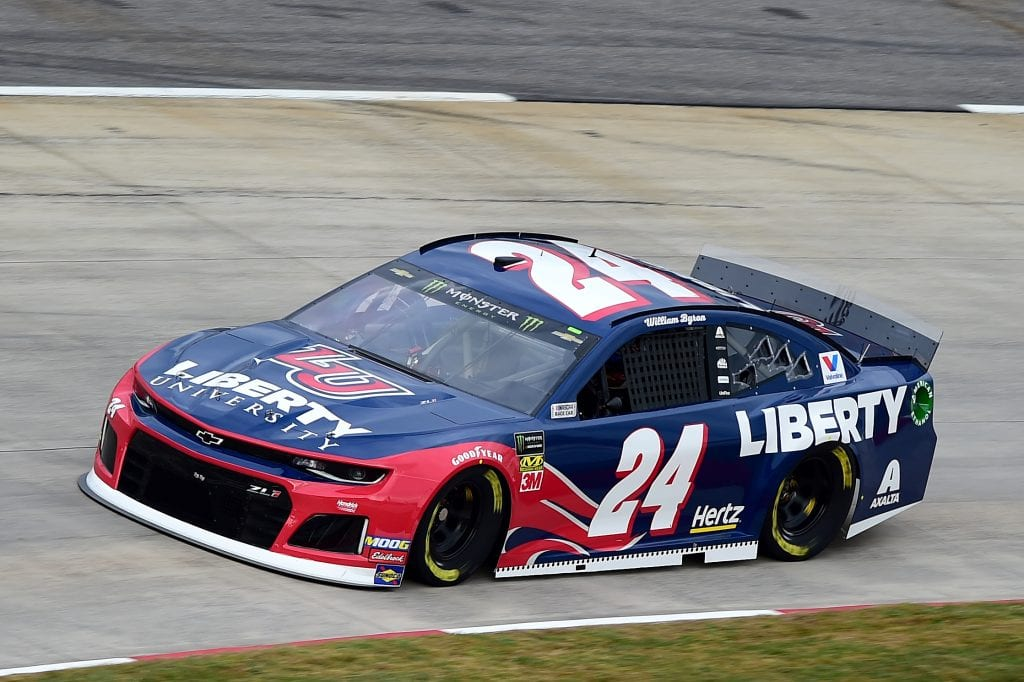 MARTINSVILLE, VIRGINIA - OCTOBER 26: William Byron, driver of the #24 Liberty University Chevrolet, practices for the Monster Energy NASCAR Cup Series First Data 500 at Martinsville Speedway on October 26, 2019 in Martinsville, Virginia. (Photo by Jared C. Tilton/Getty Images) | Getty Images