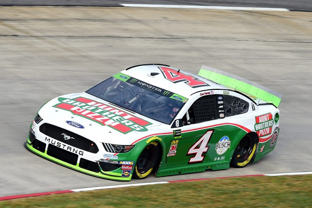 MARTINSVILLE, VIRGINIA - OCTOBER 26: Kevin Harvick, driver of the #4 Hunt Brothers Pizza Ford, practices for the Monster Energy NASCAR Cup Series First Data 500 at Martinsville Speedway on October 26, 2019 in Martinsville, Virginia. (Photo by Jared C. Tilton/Getty Images) | Getty Images