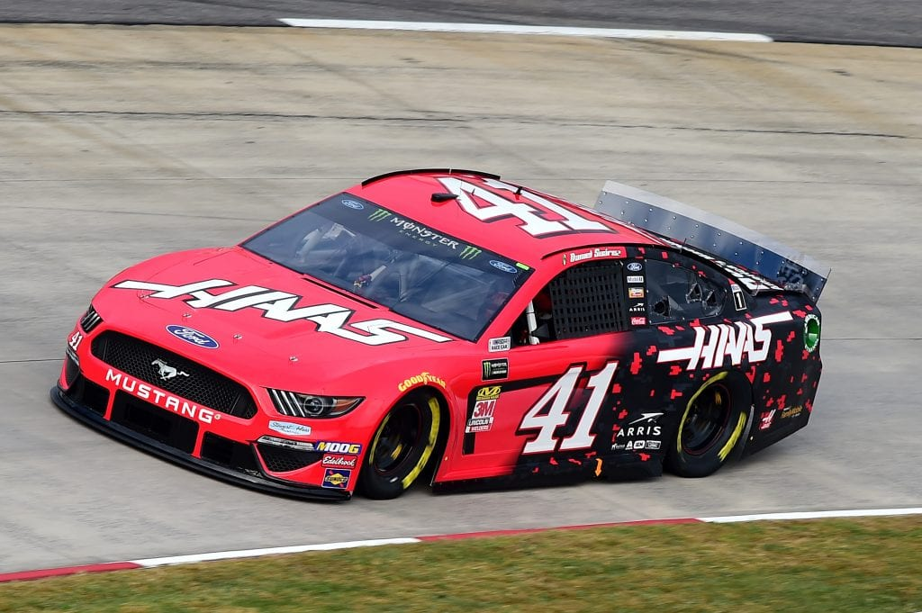 MARTINSVILLE, VIRGINIA - OCTOBER 26: Daniel Suarez, driver of the #41 Haas Automation Ford, practices for the Monster Energy NASCAR Cup Series First Data 500 at Martinsville Speedway on October 26, 2019 in Martinsville, Virginia. (Photo by Jared C. Tilton/Getty Images) | Getty Images