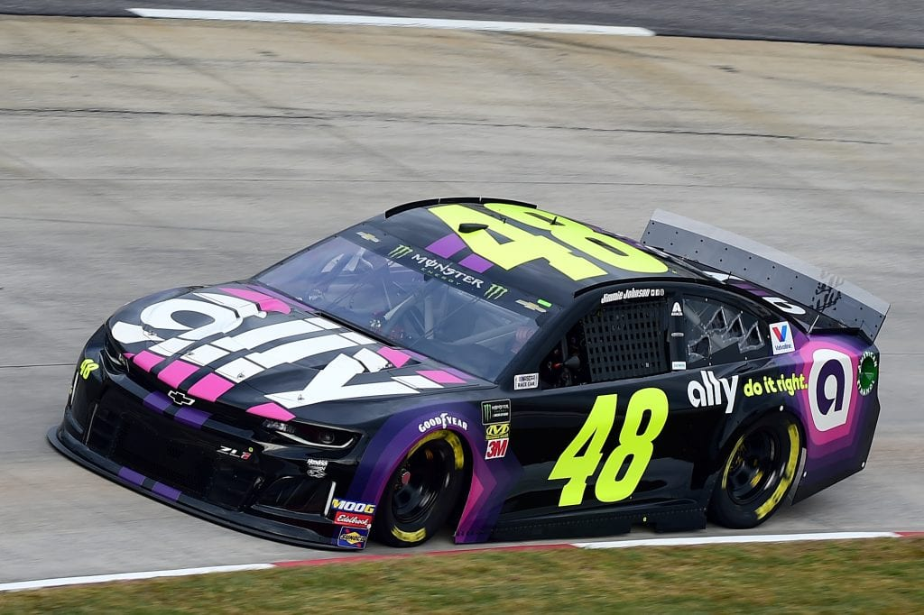 MARTINSVILLE, VIRGINIA - OCTOBER 26: Jimmie Johnson, driver of the #48 Ally Chevrolet, practices for the Monster Energy NASCAR Cup Series First Data 500 at Martinsville Speedway on October 26, 2019 in Martinsville, Virginia. (Photo by Jared C. Tilton/Getty Images) | Getty Images