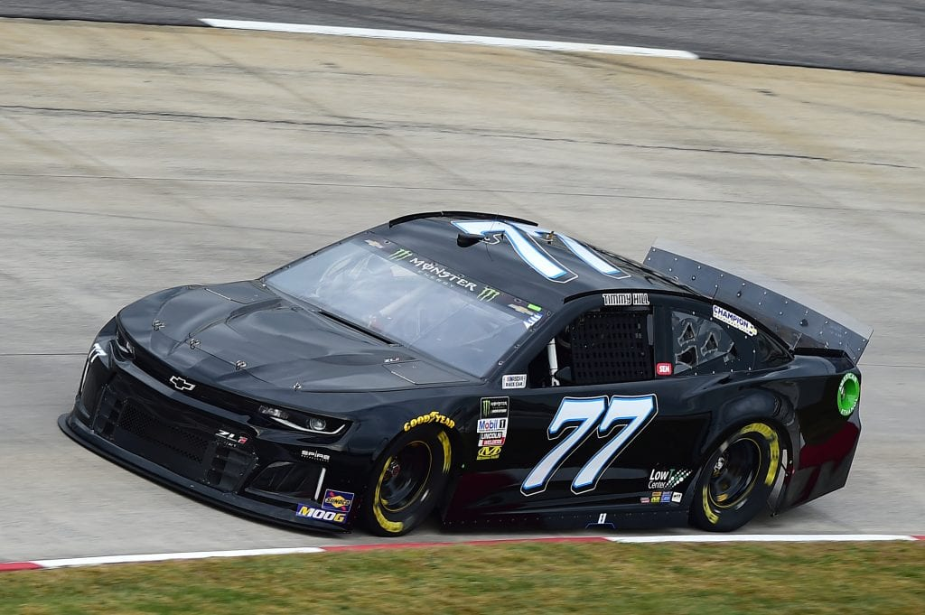 MARTINSVILLE, VIRGINIA - OCTOBER 26: Timmy Hill, driver of the #77 Spire Motorsports Chevrolet, practices for the Monster Energy NASCAR Cup Series First Data 500 at Martinsville Speedway on October 26, 2019 in Martinsville, Virginia. (Photo by Jared C. Tilton/Getty Images) | Getty Images