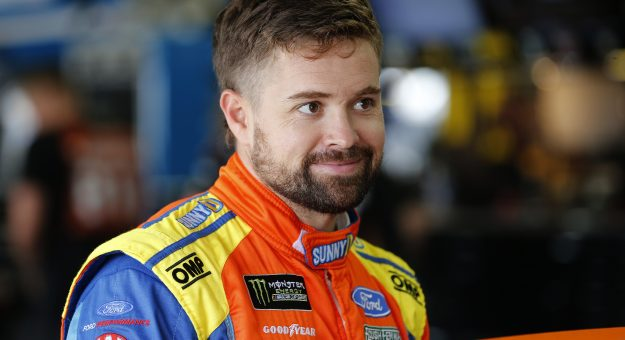 CHARLOTTE, NORTH CAROLINA - SEPTEMBER 28: Ricky Stenhouse Jr., driver of the #17 SunnyD Ford, stands in the garage area during practice for the Monster Energy NASCAR Cup Series Bank of America ROVAL 400 at Charlotte Motor Speedway on September 28, 2019 in Charlotte, North Carolina. (Photo by Brian Lawdermilk/Getty Images)   Getty Images