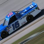 TALLADEGA, ALABAMA - OCTOBER 11: Austin Hill, driver of the #16 United Rentals Toyota, practices for the NASCAR Gander Outdoor Truck Series Sugarlands Shine 250 at Talladega Superspeedway on October 11, 2019 in Talladega, Alabama. (Photo by Sean Gardner/Getty Images) | Getty Images