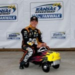 KANSAS CITY, KANSAS - OCTOBER 19: Daniel Hemric, driver of the #8 Caterpillar Chevrolet,  poses with a pole award pedal car after qualifying for the Monster Energy NASCAR Cup Series Hollywood Casino 400 at Kansas Speedway on October 19, 2019 in Kansas City, Kansas. (Photo by Jonathan Ferrey/Getty Images) | Getty Images