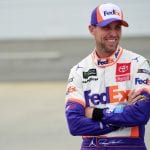 MARTINSVILLE, VIRGINIA - OCTOBER 26: Denny Hamlin, driver of the #11 FedEx Freight Toyota, stands on the grid during qualifying for the Monster Energy NASCAR Cup Series First Data 500 at Martinsville Speedway on October 26, 2019 in Martinsville, Virginia. (Photo by Jared C. Tilton/Getty Images) | Getty Images